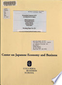 Economical Impacts of IT on Industries in Japan
