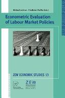 Econometric Evaluation of Labour Market Policies