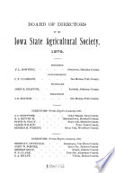 Report of the Secretary of the Iowa State Agricultural Society  for the Year    Book