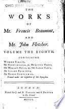 The Works of Mr. Francis Beaumont, and Mr. John Fletcher Pdf/ePub eBook