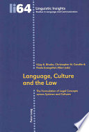 Language Culture And The Law