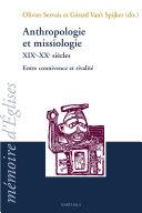 Pdf Anthropologie et missiologie XIXe-XXe siècles Telecharger