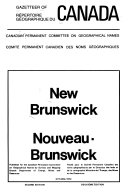 Gazetteer of Canada, New Brunswick
