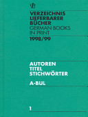 German Books in Print 1998 99 Book