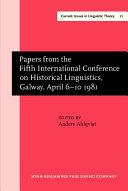 Communications de la Cinquieme Conference Internationale de Linguistique Historique