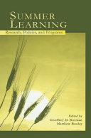 Summer Learning ebook