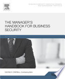 The Manager S Handbook For Business Security Book PDF