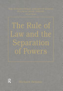 The Rule of Law and the Separation of Powers - Seite 297