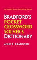 COLLINS BRADFORD'S CROSSWORD SOLVER'S POCKET DICTIONARY.