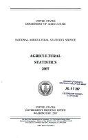 Agricultural Statistics, 2007 (Paperback)