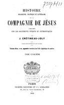 Histoire religieuse, politique et littéraire de la Compagnie de Jésus