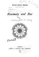 Pdf Rosemary and Rue