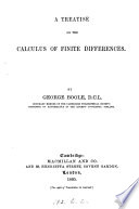 A Treatise on the Calculus of Finite Differences Book