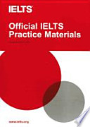 Official IELTS Practice Materials Volume 1. Paperback with CD
