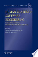 Human Centered Software Engineering   Integrating Usability in the Software Development Lifecycle Book