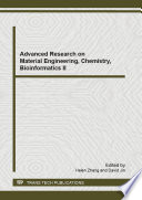 Advanced Research on Material Engineering  Chemistry  Bioinformatics II
