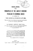 The Principles Of The Law Of Evidence Peculiar To Criminal Cases