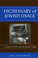 Dictionary of Jewish Usage