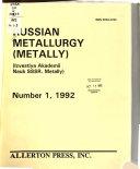 Russian Metallurgy Book