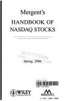 Mergent s Handbook of NASDAQ Stocks Spring 2006