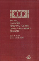 Pdf Tax and Financial Planning for the Closely Held Family Business