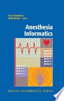 Anesthesia Informatics Book