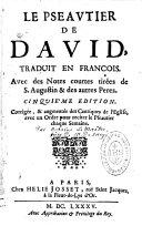 Le Psautier de David traduit en français