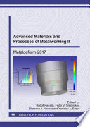 Advanced Materials And Processes Of Metalworking Ii Book PDF