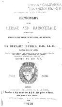Pdf Burke's Genealogical and Heraldic History of Peerage, Baronetage and Knightage