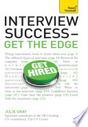 Interview Success Get The Edge Teach Yourself