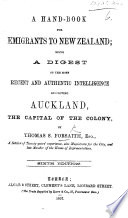 A hand-book for emigrants to New Zealand ... Sixth edition