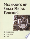 Mechanics Of Sheet Metal Forming Book PDF