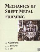 Mechanics of Sheet Metal Forming Pdf/ePub eBook