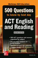 500 ACT English and Reading Questions to Know by Test Day, Second Edition [Pdf/ePub] eBook