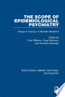 The Scope Of Epidemiological Psychiatry