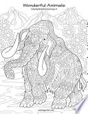 Wonderful Animals Coloring Book for Grown Ups 4