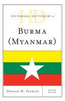 Historical Dictionary of Burma (Myanmar) Pdf/ePub eBook