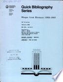Biogas from biomass  1985 1987 Book