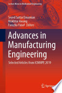 Advances in Manufacturing Engineering