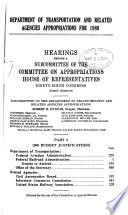 Department of Transportation and Related Agencies Appropriations for 1980