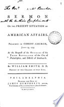 A Sermon on the Present Situation of American Affairs
