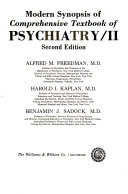 Modern Synopsis of Comprehensive Textbook of Psychiatry  II Book