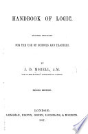 Handbook of Logic     for the use of schools and teachers