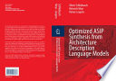 Optimized Asip Synthesis From Architecture Description Language Models Book PDF