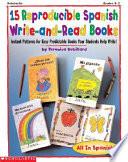 15 Reproducible Spanish Write and read Books Grades Pre K 2