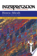 Hosea  Micah