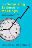 The Surprising Science of Meetings Pdf/ePub eBook