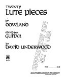 Twenty lute pieces