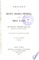Travels in Egypt, Arabia Petræa, and the Holy Land