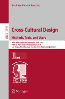 Cross Cultural Design  Methods  Tools  and Users